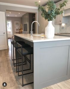 Cobham Elegant Kitchen Design, House Extension Plans, Victorian House Interiors, French Country Living Room, Open Plan Kitchen Living Room, Beautiful Houses Interior, House Flooring, Complete House Renovation, Cottage Style Homes