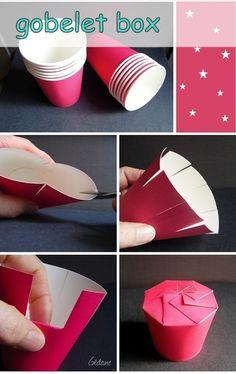 Coco 的美術館: 用紙杯做小禮盒DIY / tutorial --- box cardboard cup