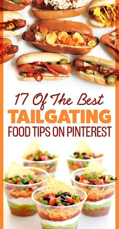 tailgate food 17 Of The Best Tailgating Food Tips - food Easy Tailgate Food, Tailgate Appetizers, Tailgating Recipes, Appetizer Recipes, Grilling Recipes, Barbecue Recipes, Barbecue Sauce, Tailgate Desserts, Tailgate Parties
