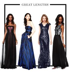 Fall fashion | Floor length gowns with stunning detail.