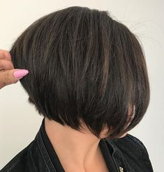 Layered Jaw-Length Bob for Thick Hair