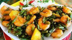 Surinaams eten – Chinese Kousenband Garnalen (Surinaams-Chinese wokgarnalen met kousenband op speciale saus)