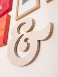 Decorative Ampersand sign made from birch plywood by AvaandBea, £15.00