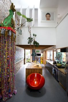 David Boyle Marrickville House. Some really interesting tall and skinny space in this one, the personalisation of the people who live there is divine. Love the kangaroo garland.
