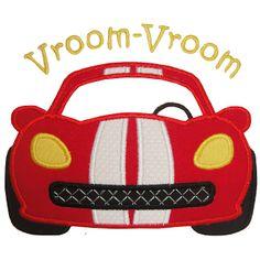 Race Car Applique