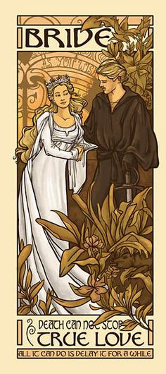 Princess Bride: How very Alphonse Mucha-and/or-Margaret/Frances Macdonald-art nouveau-circa Alphonse Mucha, Art Nouveau, The Princess Bride, Princess Bride Tattoo, Jugendstil Design, My Sun And Stars, Inspiration Art, Movies Showing, Large Prints