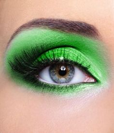 Lime green shadow