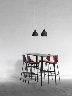 Union Bar Table by Normann Copenhagen High Bar Table, Bar Height Table, High Tables, Bar Table Design, Dining Room Design, Union Bar, Table Furniture, Furniture Design, Copenhagen Design