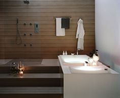 I love the walk up to the tub and shower. So modern and so awesome