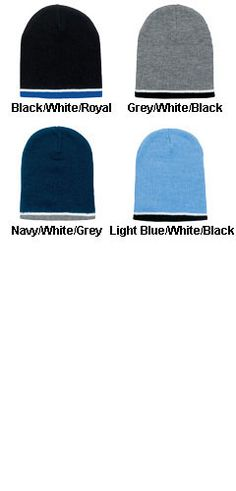 2 for 9.95 2 Navy Blue Beanies with  Heat applied Logos as Shown Good quality Adult one size Beanies! SUPER VALUE