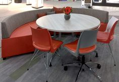 Available in a variety of base styles and unlimited color options, Doni seating from KI offers comfort and color. Cafe Furniture, Business Furniture, Unique Cafe, Work Spaces, Common Area, Showroom, Tables, Garage, Chairs