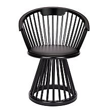 Buy Tom Dixon Fan Dining Chair, Black Online at johnlewis.com