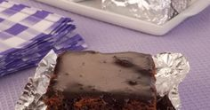 Receita de bolo brownie gelado