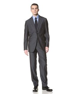 @Lindsay Mueller  A classic 2 button suit with a lapel that is not too wide or too narrow is most flattering to almost any body shape.