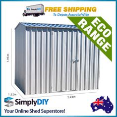 Garden Sheds 3x3 absco sheds 2.26 x 1.52 x 2.08m pale eucalypt spacesaver single