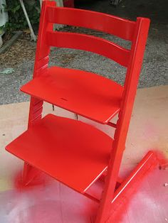 Stokke Tripp Trapp chair: sand and repaint