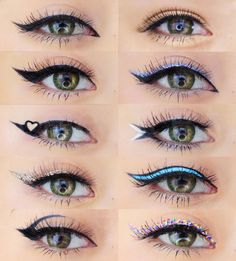 I show you how to create 12 different eyeliner styles! From everyday simple eyeliner to dramatic, more bold eyeliner looks. #SimpleEyeliner Double Eyeliner, Cat Eye Eyeliner, Purple Eyeliner, Bold Eyeliner, Graphic Eyeliner, No Eyeliner Makeup, White Eyeliner, Eyeliner Waterline, Eyeliner Ideas