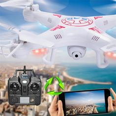 Drone X5C Rc Wifi Real Time Fvp Helicopter De Controle Remoto X5c Drones With Wifi FPV 2MP Camera Altitude Hold Quadcopter  Price: 58.00 & FREE Shipping  #tech|#electronics|#bluetooth|#computers