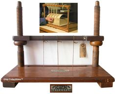 A Pine Wood Sewing Frame For Stitching and Binding Books. - click to enlarge.