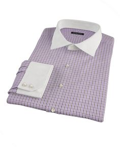 Lavender and Brown Mini Gingham by Proper Cloth