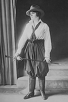 1916 Lucile Equestrian suit.  Women who were not naturally pear shaped could simulate the effect with the voluminous bifurcated nether garment.