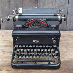 Typewriter Royal KHM 1936 Black Silver Wedding by RibbonsAndRetro, $249.00