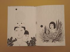 """pencil drawings selection"" zine / inside by Irana Douer"