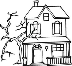 Free Haunted House Coloring Page Colouring Pictures Castle Pages