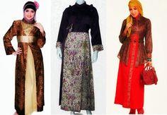 model baju gamis kombinasi wanita gemuk