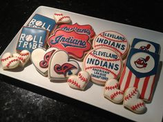 Cleveland Indians cookies. I'll make these for a gathering with my boyfriends family.