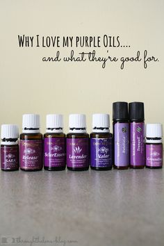 Okay, y'all. My oils. How can I explain to you how much I love these amazing bottles of goodness? My favorite color has always, always been purple. And some of my favorite oils are purple. Why? Let...