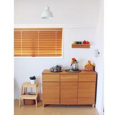 オレンジ/kivi/壁に付けられる家具/無印良品/無印/キャビネット…などのインテリア実例 - 2014-10-11 11:36:41 | RoomClip(ルームクリップ)