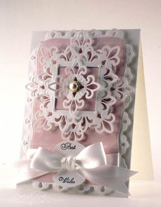 //www.spellbinderspaperarts.com   So delicate and pretty ... and great for so many different occassions ... BY www.amazingpaperg...