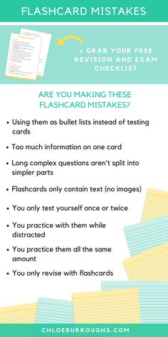 Create effective revision flashcards so you can achieve the high university and college grades you deserve. Study skills | education | tests | finals | study tips