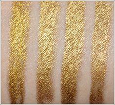 Gold Eyeliner: Urban Decay Honey vs Milani Gold vs L'Oreal HIP Gold Charge vs Stila Koi