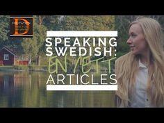 SPEAKING SWEDISH: Articles EN/ETT - YouTube