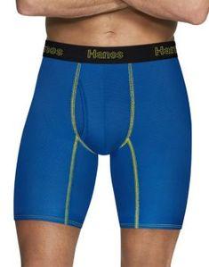 Hanes Men/'s 3-Pack Comfort Flex Boxer Briefs Fit Ultra Soft Cotton Stretch Wick