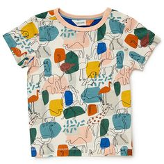 Buy John Lewis Baby GOTS Organic Cotton Animal Colour Block T-Shirt, Multi from our Baby & Toddler Tops range at John Lewis & Partners. Free Delivery on orders over John Lewis Baby, Surf, Color Blocking, Colour Block, Kids Prints, Toddler Outfits, Baby Shop, Organic Cotton, Men Casual