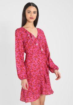 Gina Tricot MIKA WRAP DRESS - Korte jurk - fuchsia - Zalando.nl