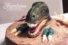 T-Rex cake! chocolate and gum paste!