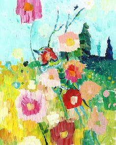 Sweet Jane by Starla Halfmann #paintabirdaday