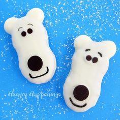 Nutter Butter Polar Bear Cookies