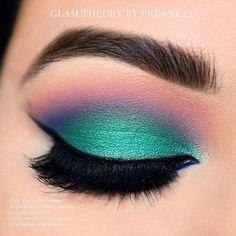 Aquamarine with a rainbow on top
