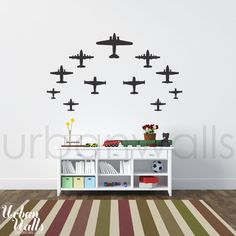 Vinyl Wall Sticker Decal Art  Airplanes by urbanwalls on Etsy, $45.00