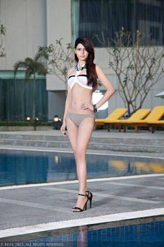 fbb Femina Miss India Delhi contestant Sana Khan posing in hot bikini shoot at the Hyatt Regency, Gurgaon.