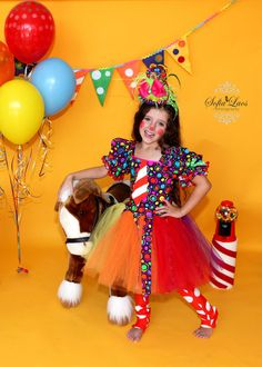 For Bellas program Clown+Costume+10/12+custom+boutique+Halloween+by+primafashions,+$63.99