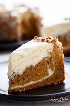 Carrot Cake Lemon Cheesecake   http://cafedelites.com