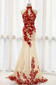 Evening Dresses For Teens, Red Evening Dresses, Champagne Prom Dress, Lace Evening Dresses, Lace Red Prom Dress Prom Dresses 2019 Wite Prom Dresses, Red Lace Prom Dress, Bridesmaid Dresses 2018, Prom Dresses 2016, Prom Dresses For Teens, Mermaid Prom Dresses, Ball Dresses, Sexy Dresses, Ball Gowns