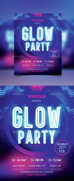 Glow Party Flyer Template PSD. Download here: http://graphicriver.net/item/glow-party-flyer/14703618?ref=ksioks
