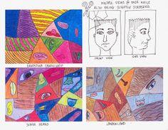The Lost Sock : Cubism Portraits